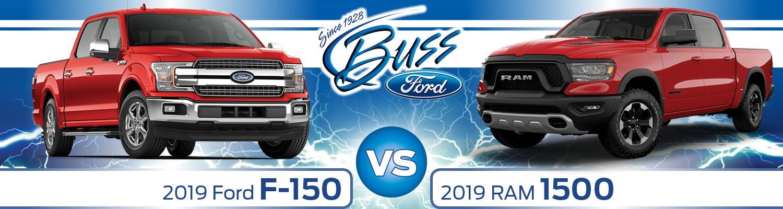 2019 Ford F-150 vs  2019 Ram 1500: Performance Specs, Design