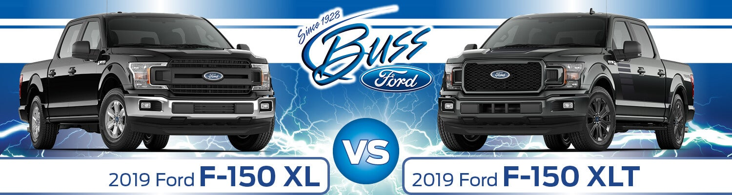 Ford F 150 Trim Levels >> 2019 Ford F 150 Xl Vs Xlt Buss Ford